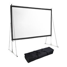 "100"" 16:9 Hd Home Outdoor Folding Projector Screen, Stand"