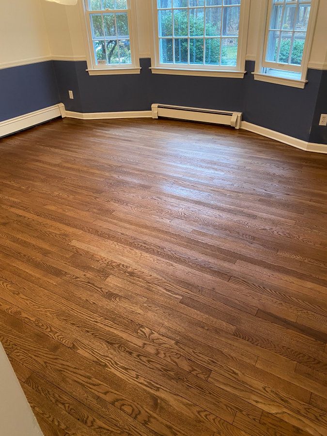 Flooring Refinish - Before, During, and After