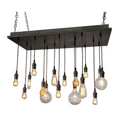 Most popular edison bulb chandeliers for 2018 houzz industrial lightworks rustic industrial dining room chandelier brass socket antique white base mozeypictures Images