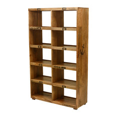 """59"""" Open Back Bookcase Display Wall Unit"""