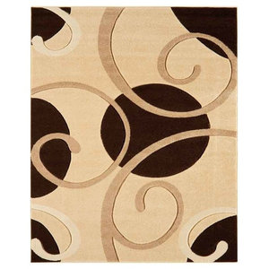 Couture COU05 Rug, Beige and Black, 200x290 cm