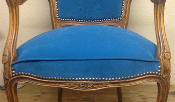 Stuhl mit Rautenheftung im Rücken   Nachher-Foto