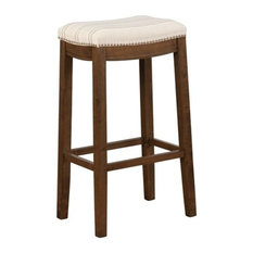 Linon Claridge 32.5-inch Upholstered Bar Stool In Natural Brown