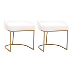 Parissa Dining Chair, Set of 2, Livesmart Peyton-Pearl, Brushed Gold