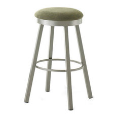 Stylish Backless Swivel Stool Counter Height 26-inch