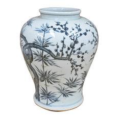 Hand Painted Trees Vase