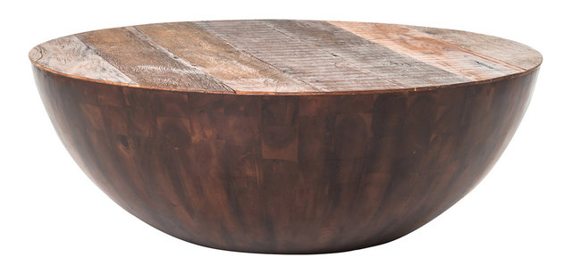 Ryan Reclaimed Wood Round Coffee Table 48