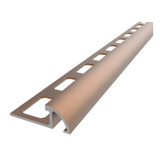"""Primary .5""""x96"""" Aluminum Round Tile Edge Trim, Dark Bronze"""