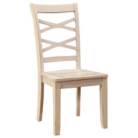 Giselle Transitional Side Chair,Set Of 2; White