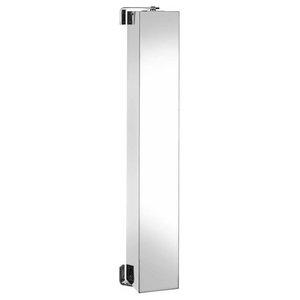 Contemporary Mirror Cabinet in Stainless Steel With Rear Storage Compartments
