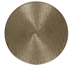 Ray Round Serving Tray, Matte Nickel, Small
