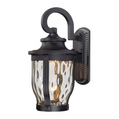 """The Great Outdoors 8762-66-L 1 Light 16.25""""H LED Outdoor Wall - Black"""