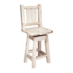Homestead Counter Height Bar Stool With Back And Swivel Ready To Finish
