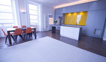 Bespoke slate and metal dining furniture, and zoned flooring