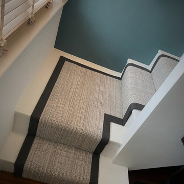 Wool runner with border...