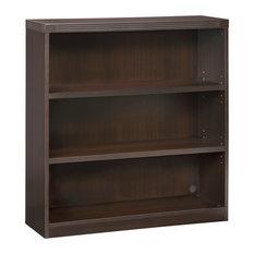 Mayline Aberdeen Series 3 Shelf Bookcase In Mocha Finish AB3S36LDC