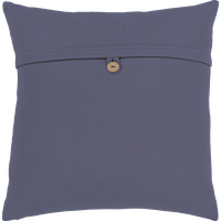 """Penelope Pillow - Navy, Down Feather, 20""""x20"""""""