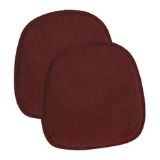 "Gripper Tonic 14.5""x14"" Delightfill Bistro Chair Cushion, Set of 2, Red"