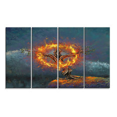 """God in the Burning Bush"" Landscape Canvas Print"