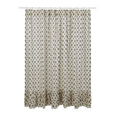 Transitional Shower Curtains for Bathroom Beige 72 X 72 Bellagio Taupe Shower Curtain