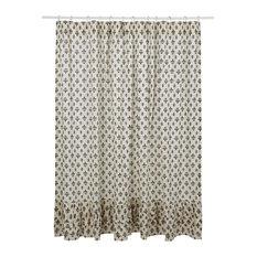 Elysee Ruffled Shower Curtain