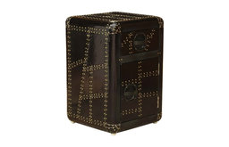 Pemberly Row Aluminum Accent Chest in Black