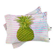 Deny Designs Madart Inc. Striped Pineapple Pillowcase