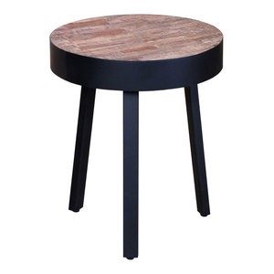 VidaXL Reclaimed Teak Round Side Table
