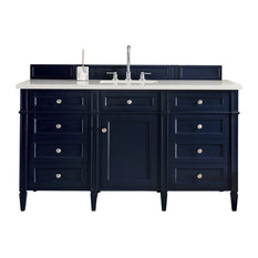 "Brittany 60"" Single Vanity Victory Blue, Base Cabinet Only"