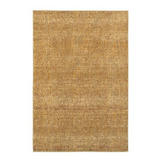 """Atlas Gold Yellow Solid Distressed Casual Rug, 10'x13'2"""""""