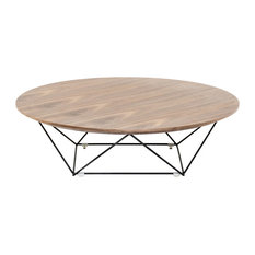 Modrest Spoke Modern Walnut Coffee Table by vidaXL