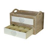 Natural Wooden Heart Makeup/Trinket/Craft Storage Box