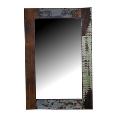 Painted Vintage Teak Mirror