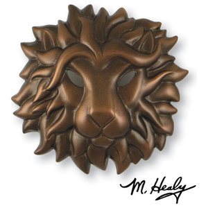 Regal Lion Door Knocker   Traditional   Door Knockers   By ...