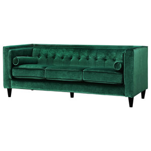 Taylor Velvet Sofa, Green