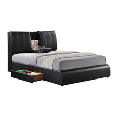 Kofi Bed With Storage, Black, Queen