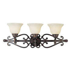 Maxim 12213FIOI 3-Light Bath Vanity Manor Oil Rubbed Bronze