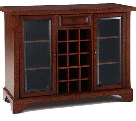 Etonnant Crosley Sliding Top Bar Cabinet Vintage Mahogany Finish, Leg Style:  Lafayette