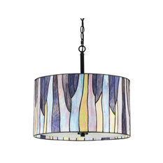 Barossa Tiffany Pendant Lamp, Purple, Purple