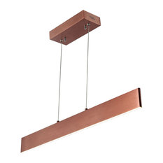 """Draper 32"""" Dimmable Adjustable Integrated Led Linear Pendant, Anodized Bronze"""