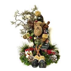 Moose Holiday Christmas Table Arrangement Centerpiece