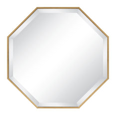 Uniek - Rhodes Modern Octagon Wall Mirror, Gold - Wall Mirrors
