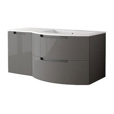 "Latoscana Oasi 43"" Slate Glossy Modern Bathroom Vanity"