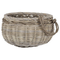 Sumbawa Natural Rattan Basket, Small