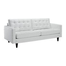 Empress Bonded Leather Sofa, White