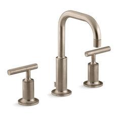 Kohler Purist Widespread Bathroom Faucet, Vibrant Brushed Bronze