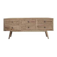 Oslo White Cedar Sideboard, 6 Drawers