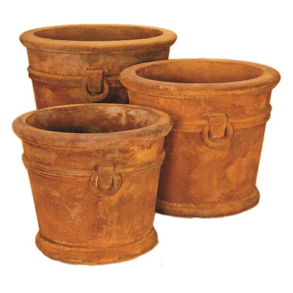 Manchester Pot Cast Stone Outdoor Garden Planter, Spanish Clay (SC), M