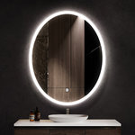 """Ketcham Medicine Cabinets - Ellipse Oval Dimmable LED Mirror with Defogger, 24""""x36""""x1.75"""" - Complete your space with an LED mirror that provides elegance and functionality where you need it. The LED lighting features a frosted glass edge which illuminates the front and sides of the LED mirror. Complete with an automatic defogger and a dimmable touch sensor that adjusts to your preferred brightness this mirror has it all. These units are wall mounted and can be hung vertically or horizontally. Power requirements for hardwiring are 100/240 VAC - 50/60 Hz."""