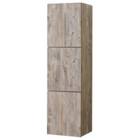 "18"" Wide by 59"" High Linen Side Cabinet With Three Doors, Nature Wood Finish"